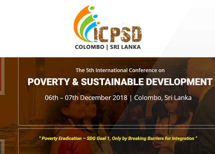 The 5th International Conference on Poverty and Sustainable Development