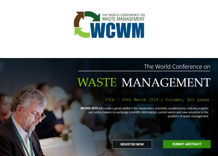 The World Conference on Waste Management (WCWM 2019)
