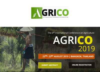 The 6th International Conference on Agriculture 2019 ( AGRICO 2019 )