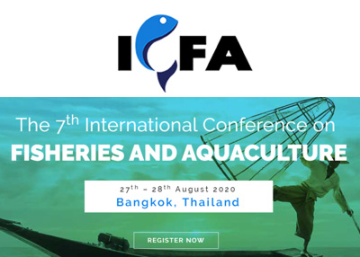 The 7th International Conference on Fisheries and Aquaculture 2020